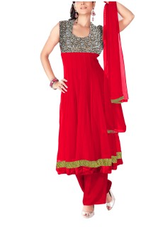 Women's Anarkali Salwar Suit Dress