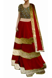 Red Lehenga with cutwork Choli