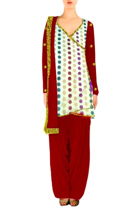 Angrakha style Salwar Suit