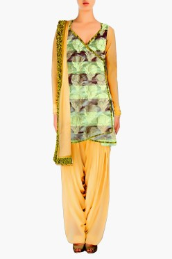 Angrakha style Salwar Suit