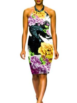 Digital Printed Haulter Cut Cottan Kurti Style Top