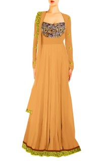 Designer Long 'A-Line' Gown