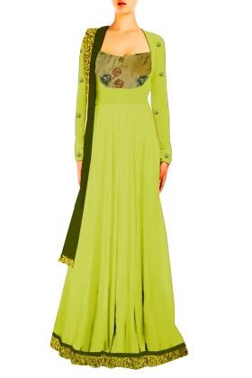 Designer Long 'A-Line' Gown