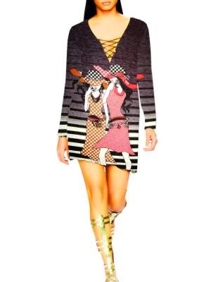 Designer Printed Lycra Kurti Top