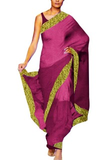 Designer Double Shade Georgette Saree