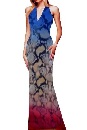 Digital Print Crepe Georgette  Long Shirt Style Gown
