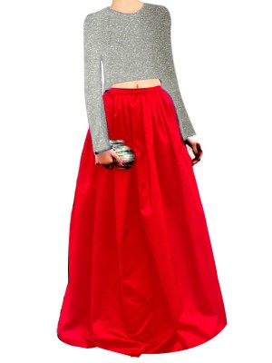 Black Embroided Top clubed with Magenta Silk  Lehenga Skirt