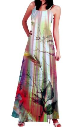 Digital Print Cottan  Long Shirt Style Gown