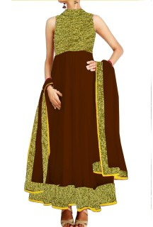 Anarkali Suit With Embroided  York & Ghera