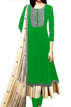 Ethnic Anarkali Suit with Embroided Neck York