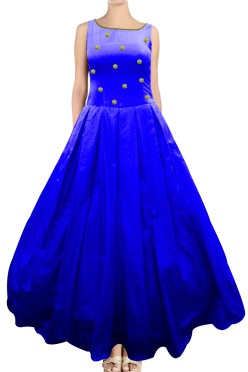 Indo-Westren Long Gown with Embroided York