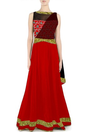 Long Gown with attched dupatta