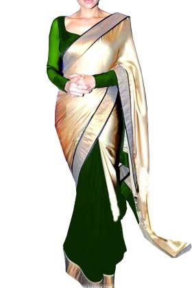 Double Colour Half & Half Saree