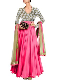 Women's anarkali suit style gown Free Size
