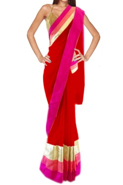 Women's stylish designer saree Free Size