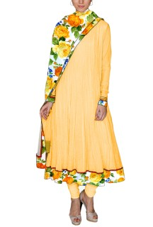 Women's designer long Anarkali suit Free Size