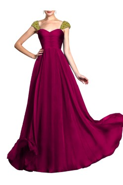 Women's designer long 'A-line' gown with Embroided Straps Free Size