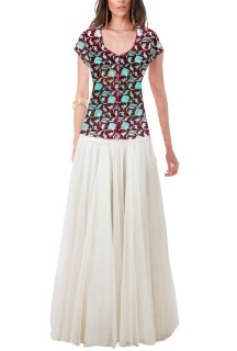 Women's designer Stylish flairy Gown Free Size